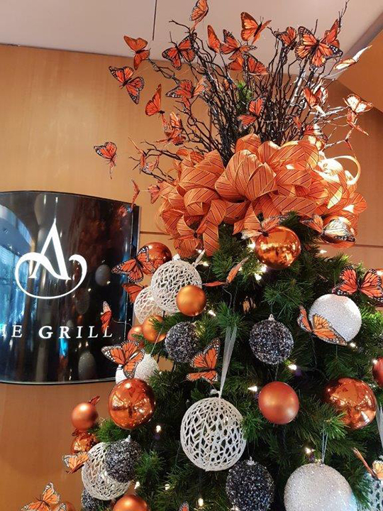 Christmas Tree Masterpiece, Amora Hotel Baubles and Butterflies