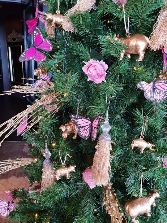 Christmas Tree Masterpiece, Hippopotamus Restaurant and Bar