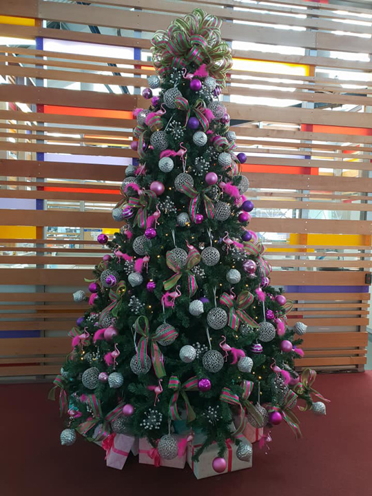 Christmas Tree Masterpiece, Purple, Silver and Pink